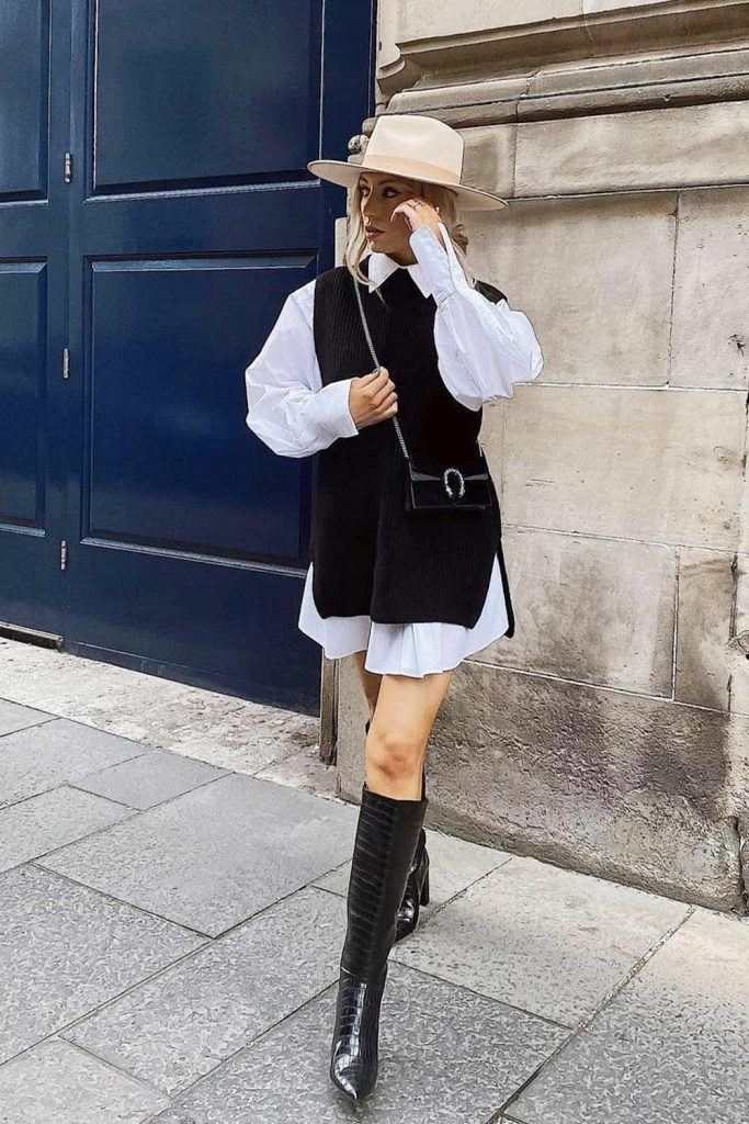 Black and White Preppy Look