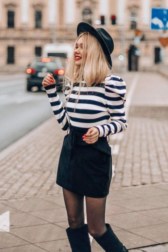 Cute Preppy Style White and Black Look