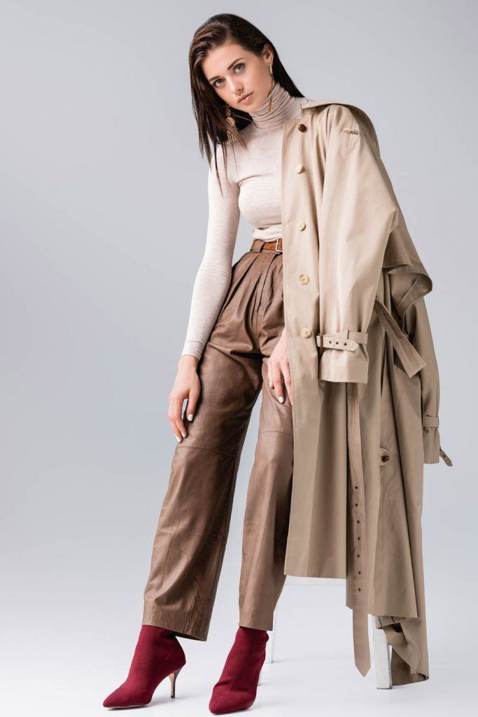 Brown Outfits with Trench Coat