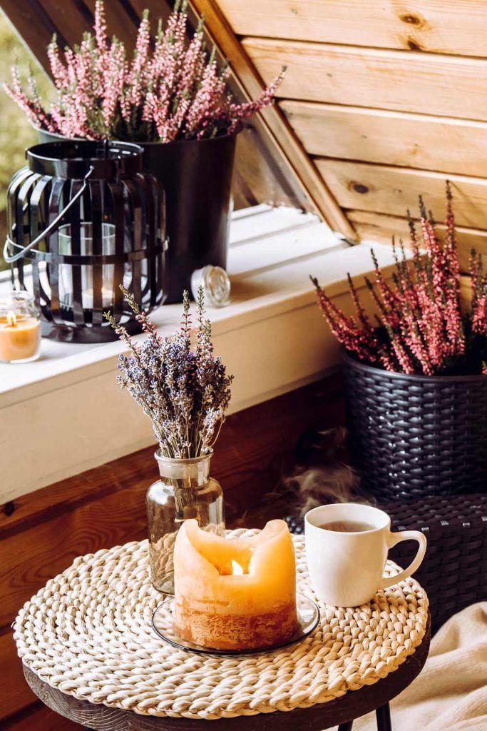 Lavender Fall Decoration Idea