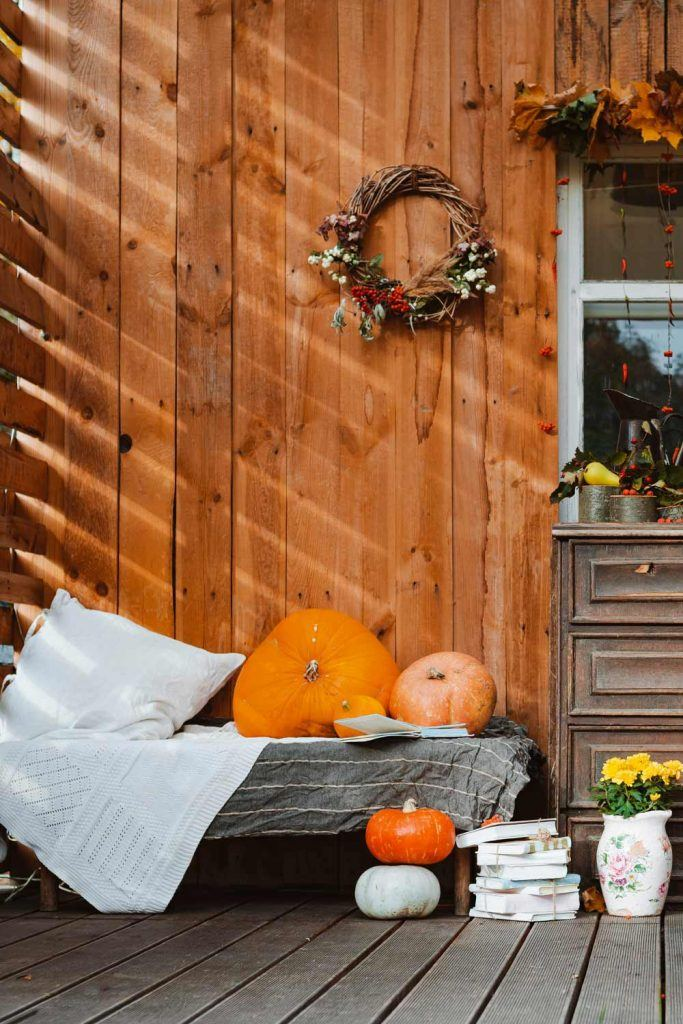 Front Porch Fall Decoration