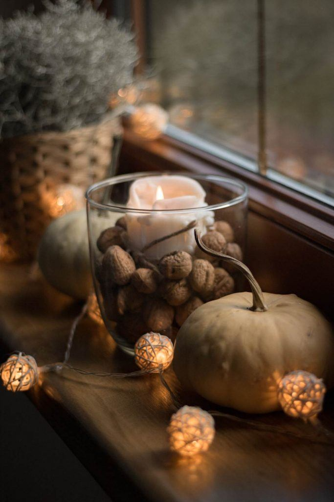 Fall Home Decor with Candle