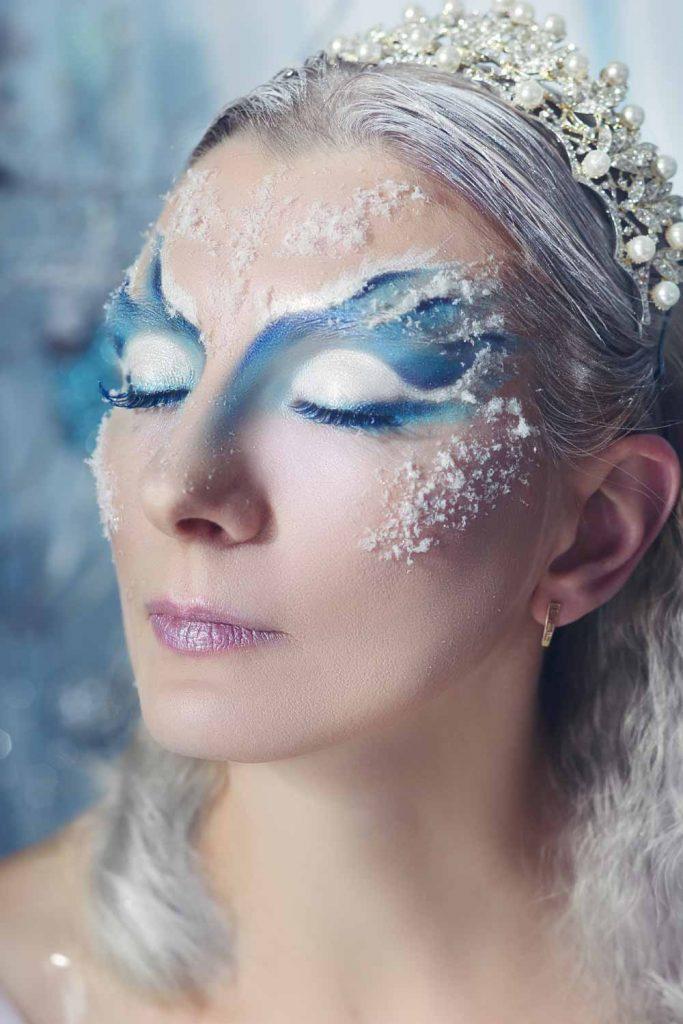 Ice Queen Makeup for Halloween