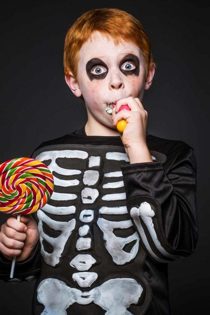 Skeleton Costume Idea for Boy