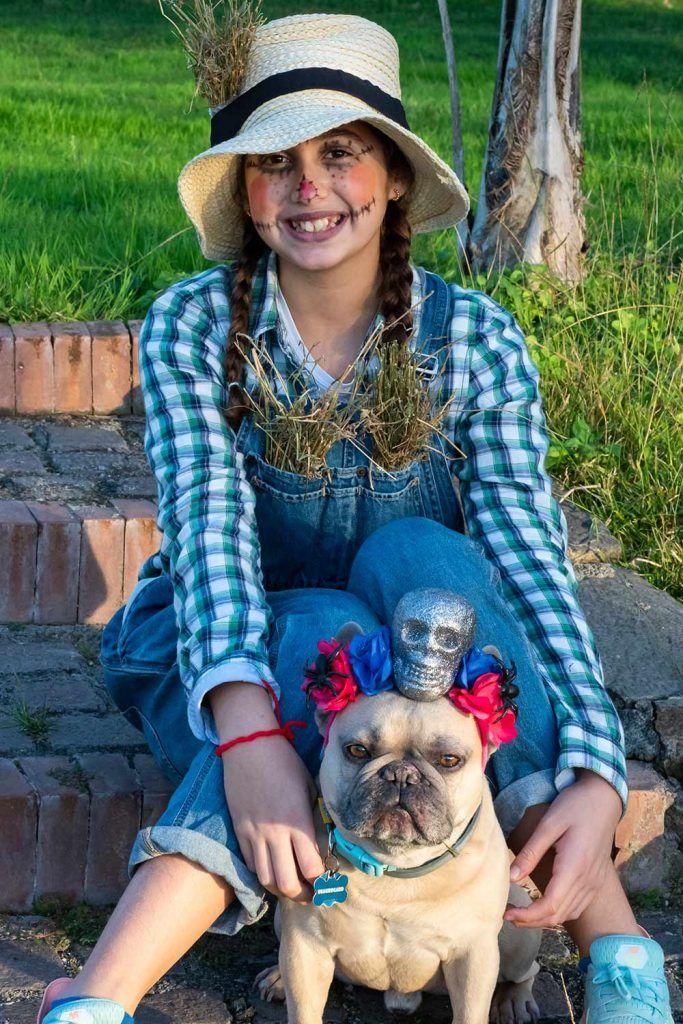 Scarecrow Costume Idea with Pet
