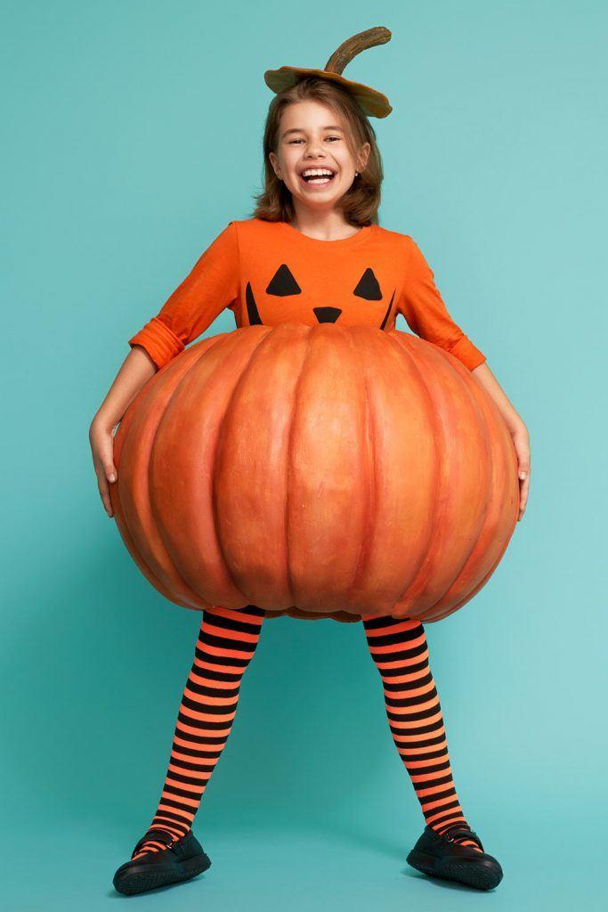 Pumpkin Halloween Costume for Girl