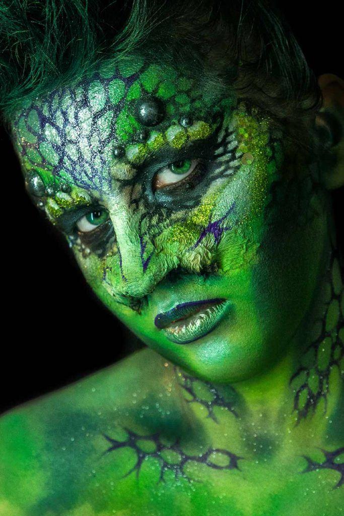 Lizard Halloween Makeup