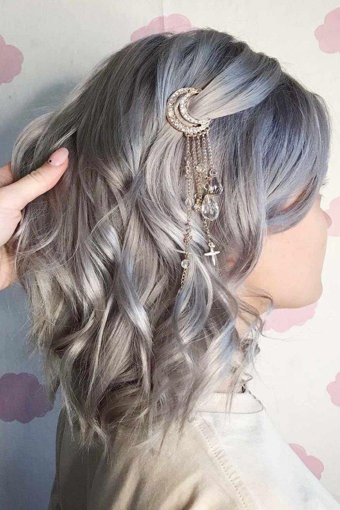 Wavy Silver Hair