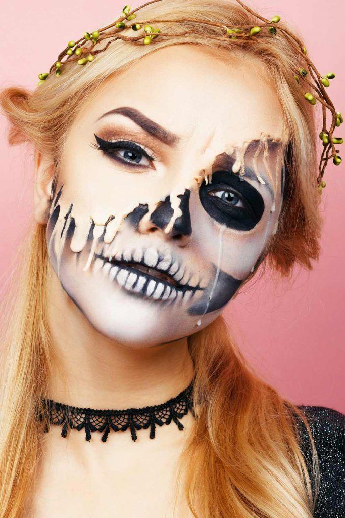 Halloween Skeleton Makeup Idea