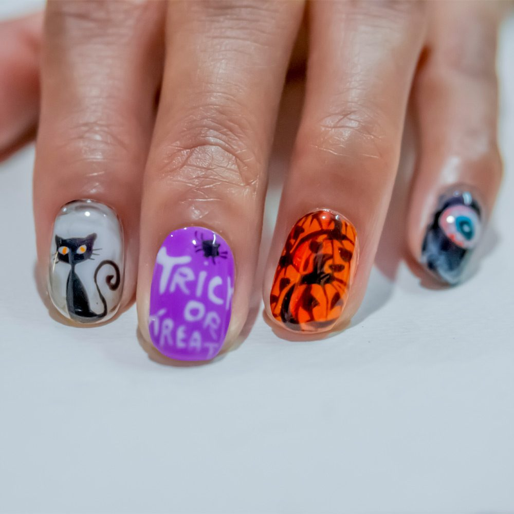 Trick or Treat Halloween Nails