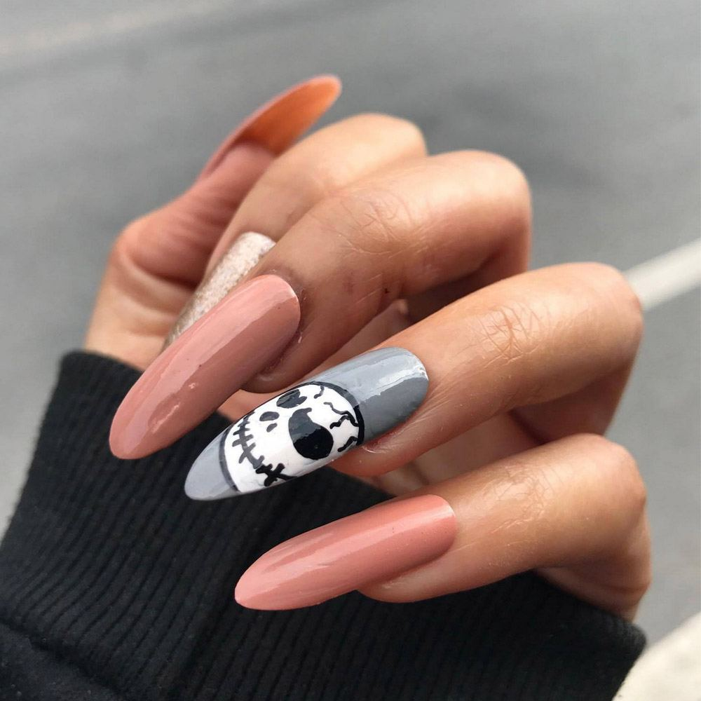 Halloween Nails with Accented Nail