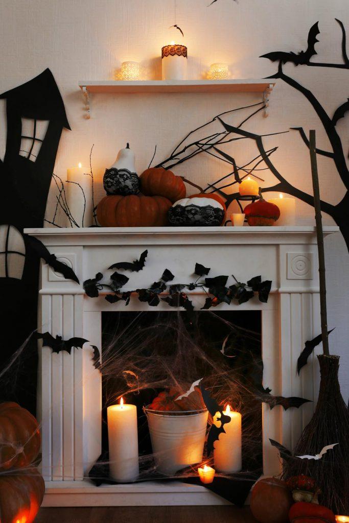 Halloween Fireplace Decoration Ideas