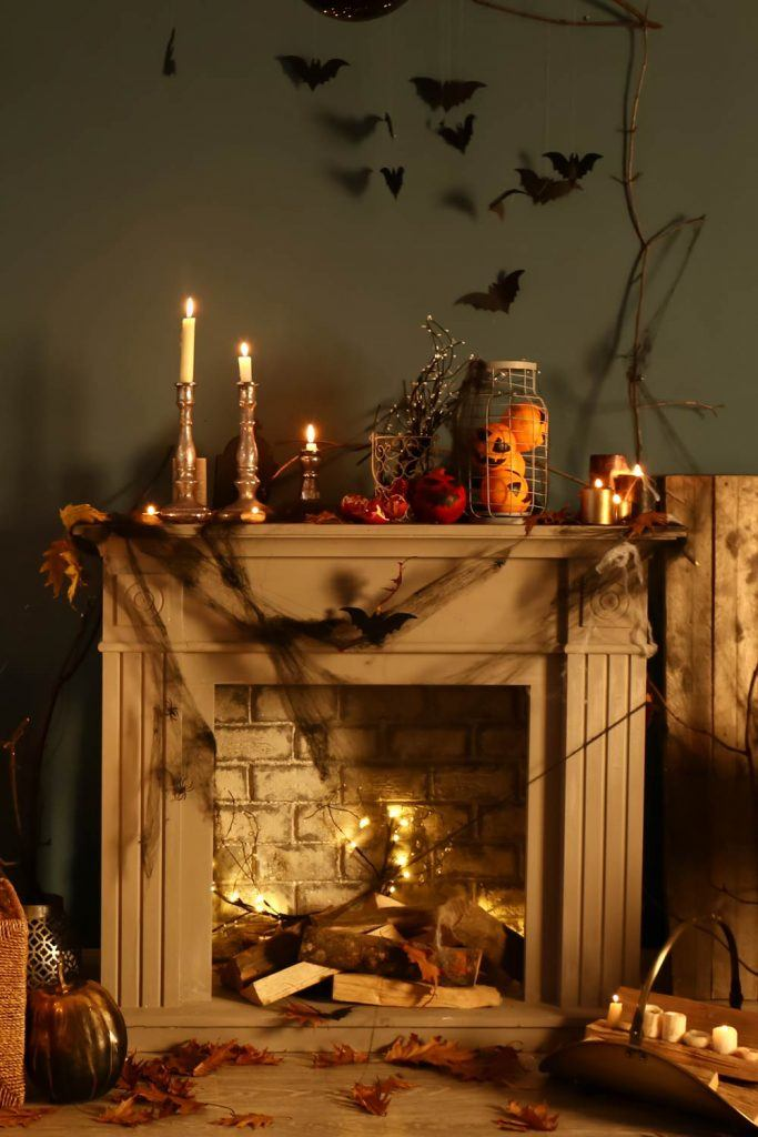 How to Decorate Your Fireplace for Halloween?