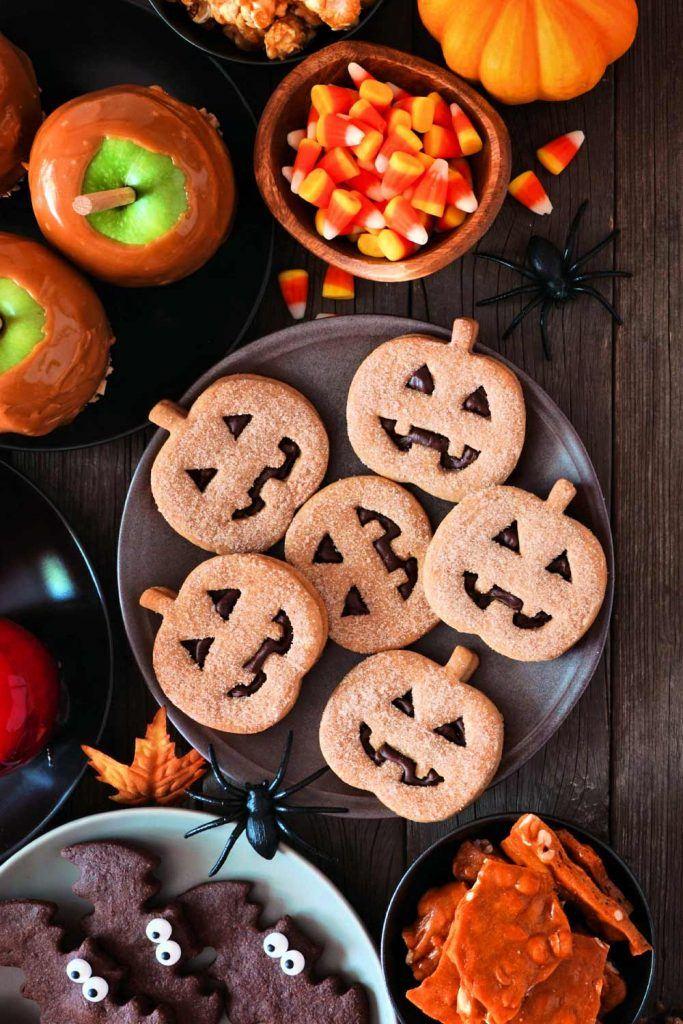 Chocolate Halloween Cookies Decoration